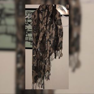 Accessories - Brown and Cream scarf